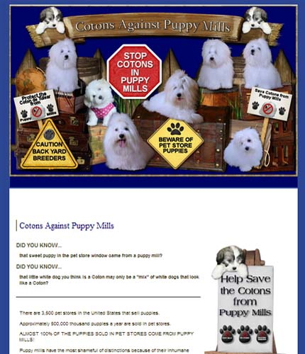 Cotons Against Puppy Mills